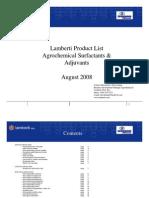 Lamberti Product List Agro Surf Act Ants & Adjuvants Aug 1 2008