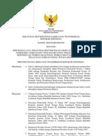 Permenaker Ttg Perubahan Atas Permenaker No 12 Th 2007 Ttg Juknis Pendaftaran Kepesertaan, Pembayaran Iuran, Pembayaran Santunan Dan Pelayanan Jamsostek