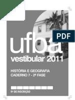 Prova de Geografia - UFBA