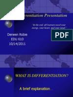 Differentiation Lesson