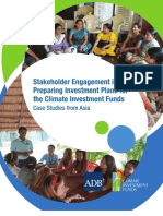 Stakeholder Engagement in Preparing Investment Plans for the Climate Investment Funds
