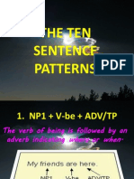 The Ten Sentence Patterns