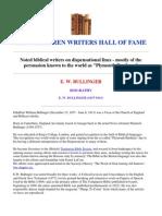 e w Bullinger Biography