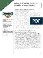 Sensoril Optimized Ashwagandha Extract Exercise WhitePaper Web2012