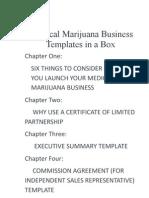 Medical Marijuana Business Templates