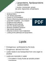 Plasma Lipids, lipoprotein & Apolipoprotein Proteins