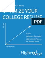 Optimizing Your College Resume-By HigherNext
