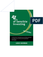 42 Rules of Sensible Investing (2nd Edition)