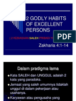 2 Godly Habits of Excellent Persons