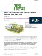 MEN Predator-Proof Portable Chicken Coop