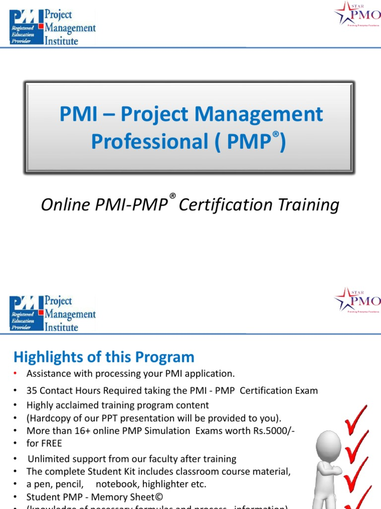 Online Pmp Training Online Pmp Certification Online Project