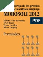 premiados en los Premios Morosoli 2012 (Minas, Uruguay)