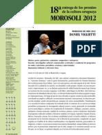 Premios Morosoli; Morosoli de ORO 2012 a Daniel Viglietti