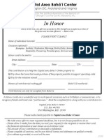 In-Honor Form