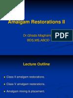 Amalgam Restorations II