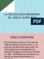 La Sociologia Moderna de Emile Durk