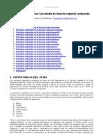 Principios Registrales Estudio Derecho Registral Comparado