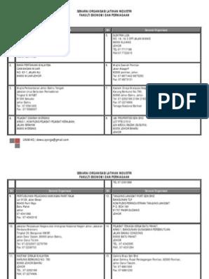 Senarai Syarikat Latihan Industri