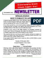 Schools Support Staff December 2012