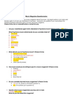 7.Questionaire TASK 7 - Analysis