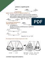 6 Ecuaciones de Primer y Segundo Grado