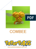 Combee Pokemon Papercraft