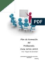 Plan de Formacion Del Prfesorado 201213