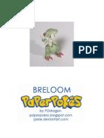 Breloom Pokemon Papercraft
