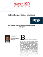 """Experton Group Fokusthema Social Business;File-Sharing- und File-Synchronisierungs-Lösung """"ownCloud"""""""