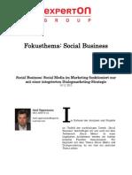 Experton Group Fokusthema Social Business;Social Business; Social Media im Marketing Funktioniert nur mit einer integrierten Dialogmarketing-Strategie