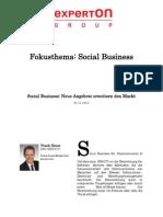 Experton Group Fokusthema Social Businesst; Social Business; Neue Angebote erweitern den Markt