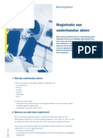 Registratie Van Onderhandse Akten Rv0281z14fd