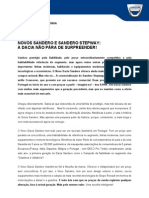 COMUNICADO DE IMPRENSA | NOVO DACIA SANDERO E SANDERO STEPWAY