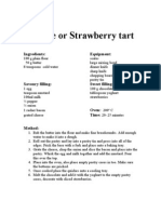 Quiche or Strawberry Tart