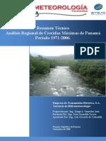 Analisis Crecidas Maximas Panama