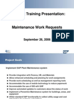 Maintenance Work Requests