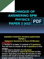 Teknik Menjawab Soalan Kertas 2