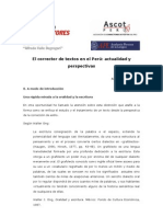 El corrector de textos en el Perú. Actualidad y perspectivas
