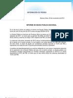 INFORME DE DEUDA PUBLICA NACIONAL Gacetilla 1