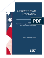 State Energy Actions -- 2008 SSL Supplement, The Council of State Governments
