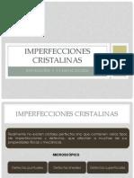 IMPERFECCIONES CRISTALINAS