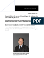 Norskt tillskott till den nordiska ledningen för Radisson Blu och Park Inn by Radisson