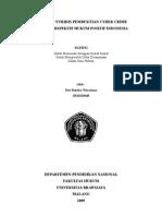 Download Tinjauan Yuridis Pembuktian Cyber Crime Dalam Perspektif Hukum Positif Indonesia by Dwi Rendra Wiratama SH SN11654767 doc pdf