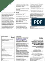 Scheda iscrizione e volantino Cibo e affettività Multiplo 3