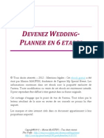 Devenez Wedding-Planner en 6 Etapes