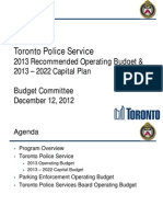 2013 TPS Recommended Operating Budget and 2013 to 2022 Capital Plan Budget Committee Dec 12 12