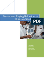 Consumers Buying Behaviour at Botton of the Pyrmid