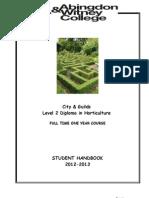 level 2 full time handbook