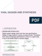 Vhdl Design and Synthesis