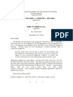 Williams v. Bank of America, 101 So. 3d 1288 (Fla. 4th DCA 2012)
